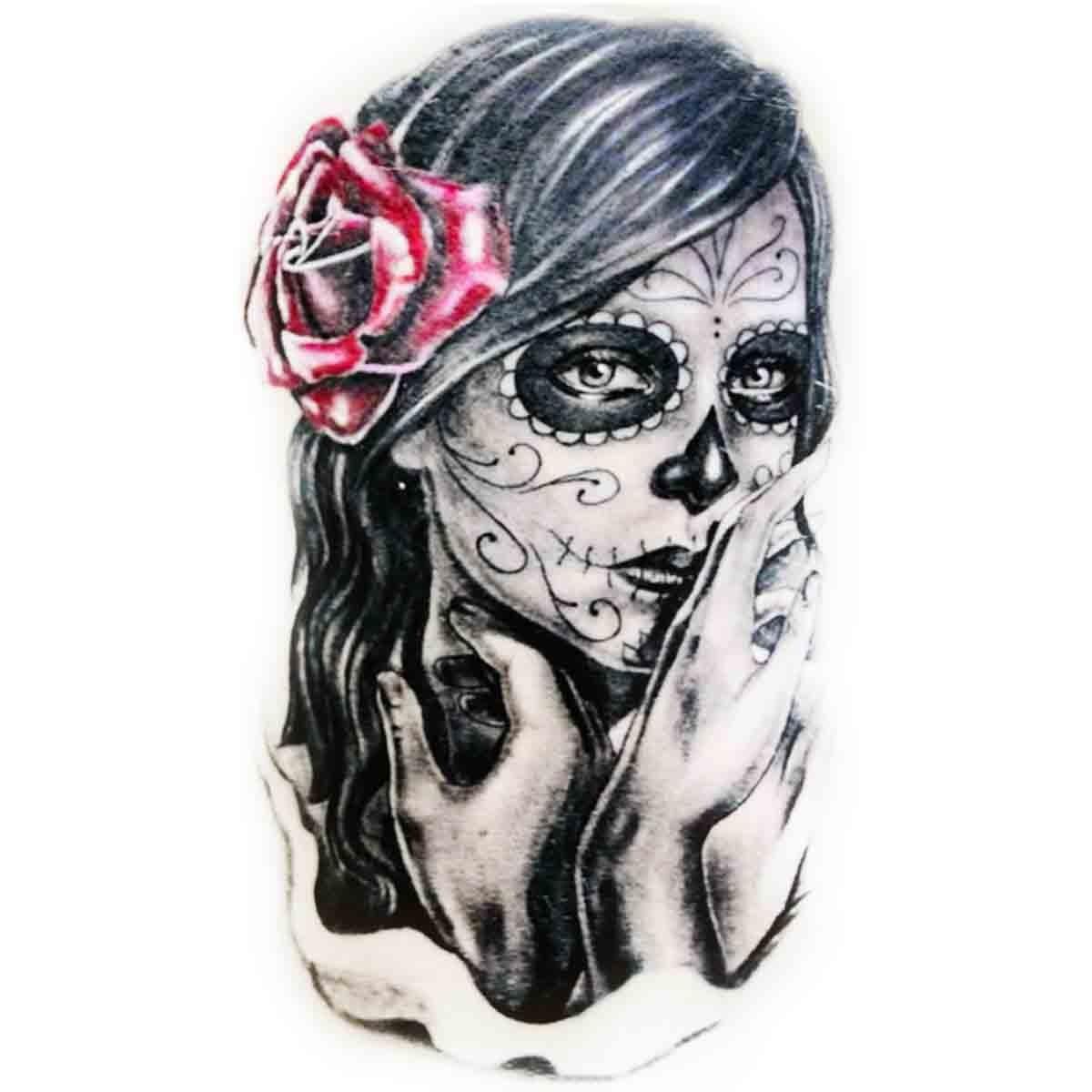 tatouage visage femme mexicaine. Black Bedroom Furniture Sets. Home Design Ideas