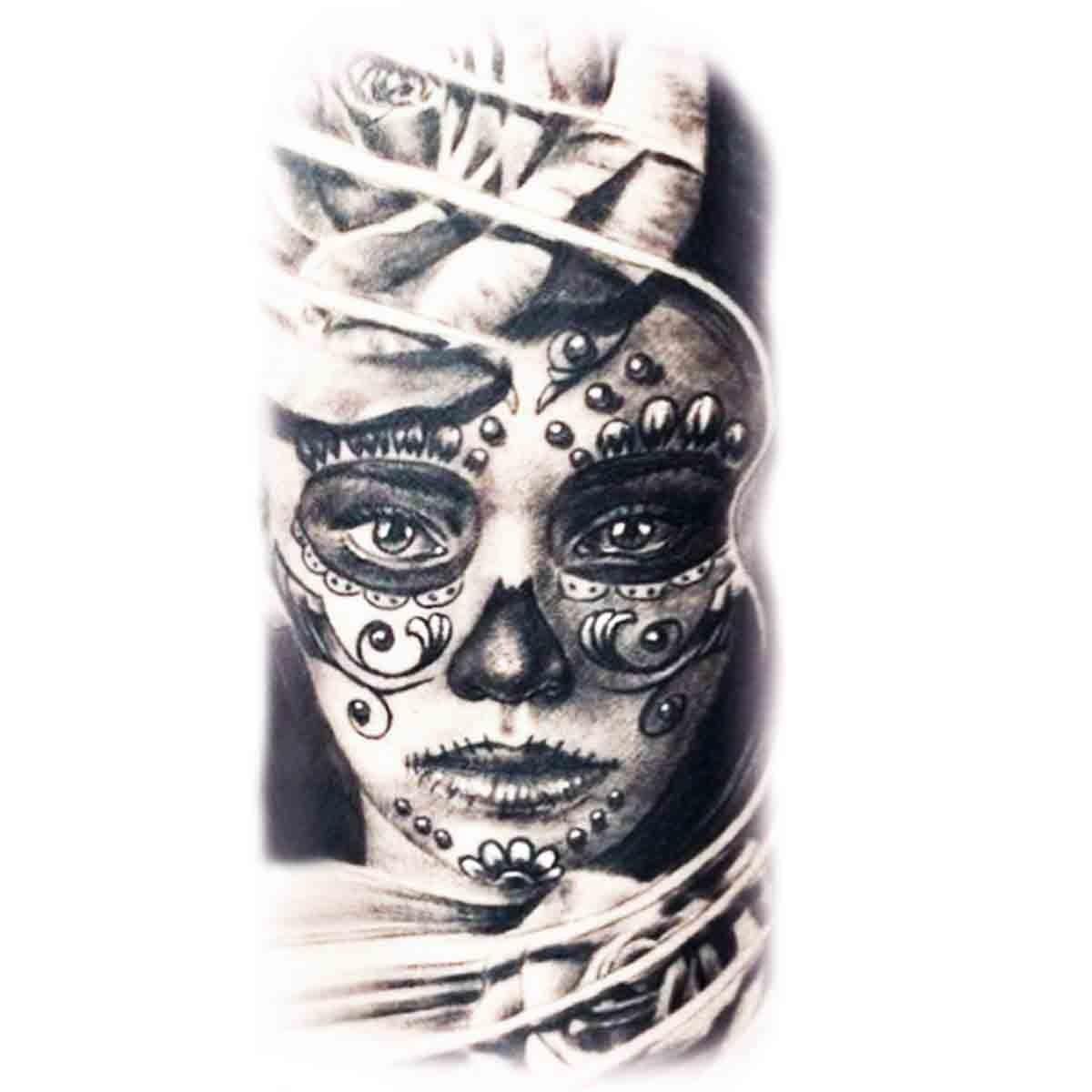 tatouage tete de mort mexicaine femme signification. Black Bedroom Furniture Sets. Home Design Ideas